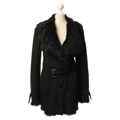 Costume National Black shearling coat