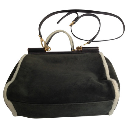 Dolce & Gabbana Sheepskin suede bag