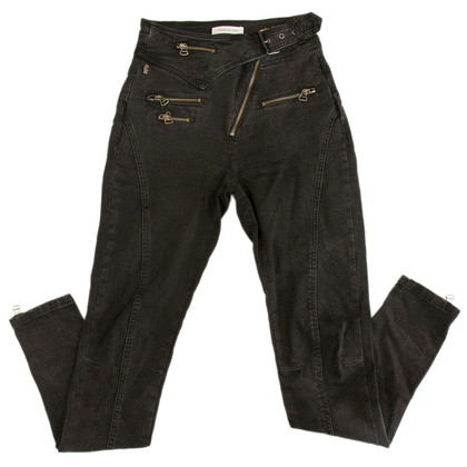Balmain Hoge taille zwarte Biker Jeans