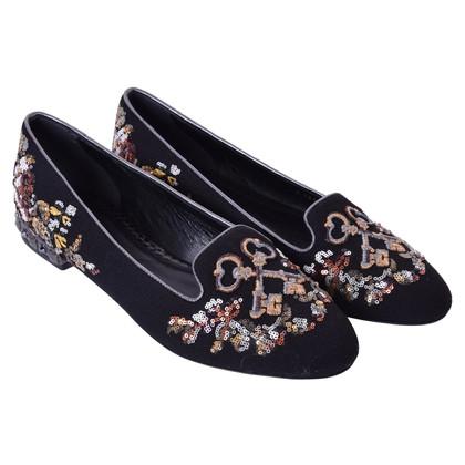 Dolce & Gabbana Slipper mit Stickerei