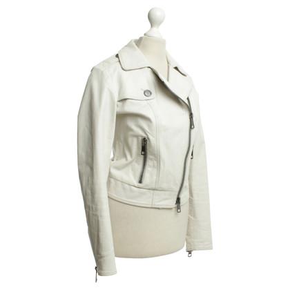 Burberry Lederjacke in Weiß