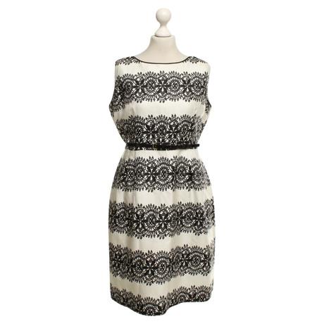 Kate Spade Kleid mit Mustern Schwarz / Weiß