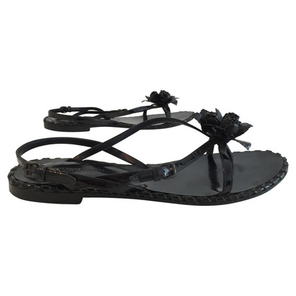 Bottega Veneta Paint toe sandals with flower