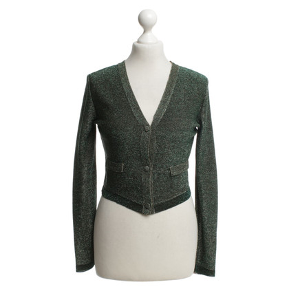 Chloé Cardigan in green / gold