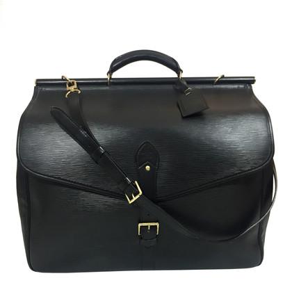 Louis Vuitton Sac Chasse Epi Leather Black