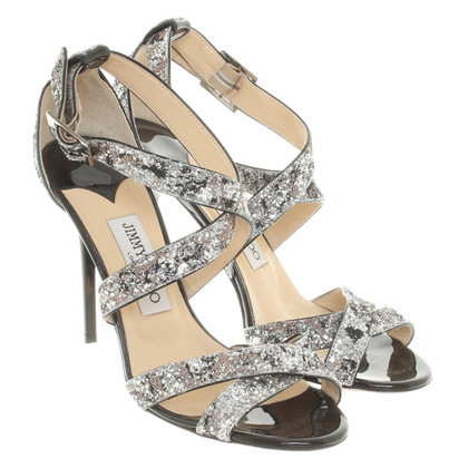 Jimmy Choo Sandaletten mit Glitzerapplikation