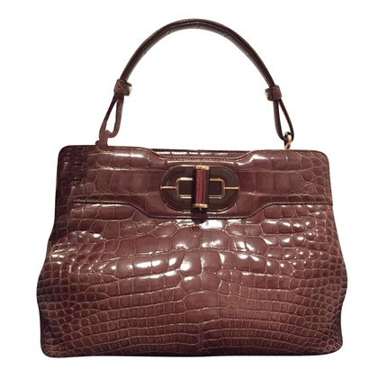 Bulgari Handbag alligator leather