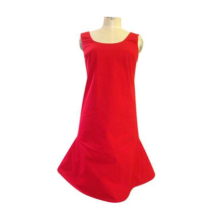 Jil Sander robe rouge