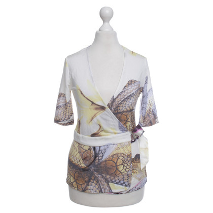 Just Cavalli Wrap-top with animal print