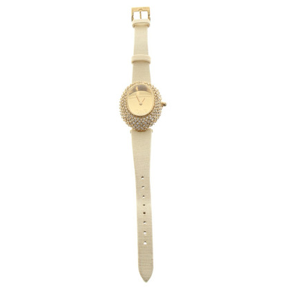 D&G Gold colored watch with jewelry stones