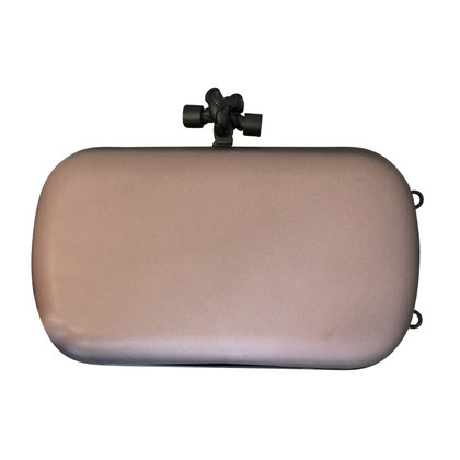 Bottega Veneta clutch con placca in metallo