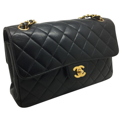 Chanel Chanel vintage DOUBLE FACE in pelle nera