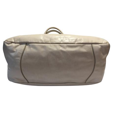 Prada Leder-Handtasche Creme Verkauf Original 4XHbEr