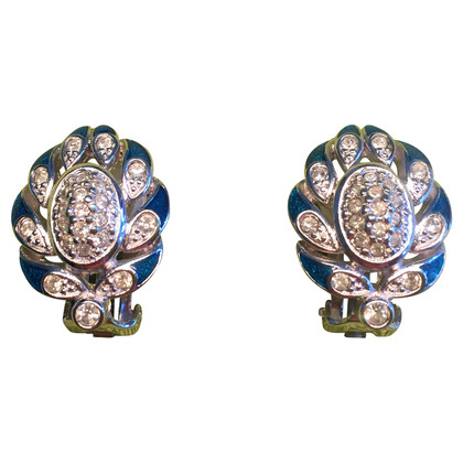 Burberry Clip earrings with Rhinestones