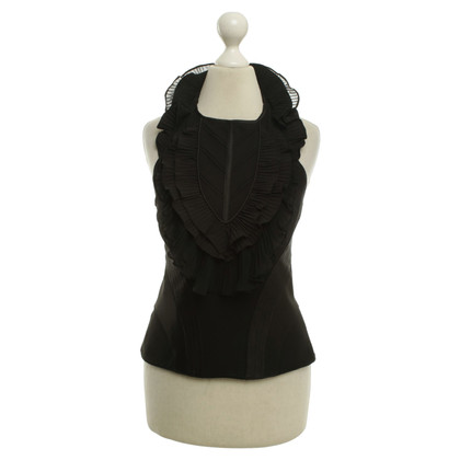 Karen Millen Top in seta in Black