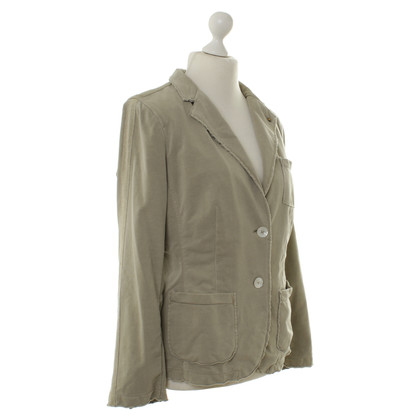 Blonde No8 Green Blazer with metallic trims