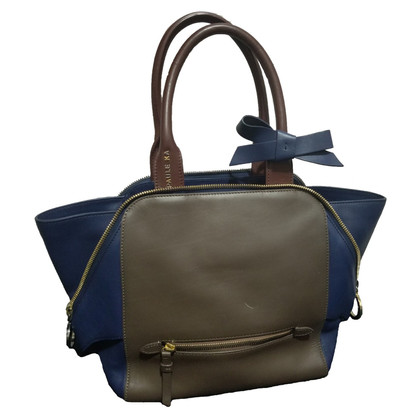 Paule Ka Paule Ka Brown Blue Tote Bag