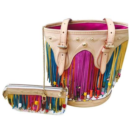 """Louis Vuitton """"Bucket Bag Multicolore Fringe"""" mit Pochette"""