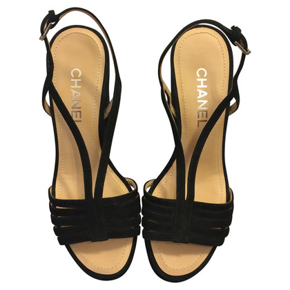 Chanel Sandals in leather and cork