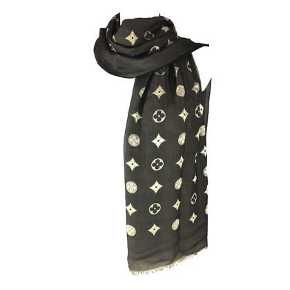 Louis Vuitton sciarpe di seta del monogramma / acetato