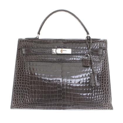 """Hermès """"Kelly Bag 32"""" in pelle di alligatore"""