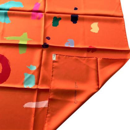 Christian Dior Silk Plein sjaal Oranje