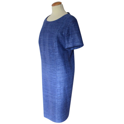 Nusco blue dress Boucle Silk