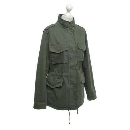 Camouflage Couture Giacca di cotone in verde