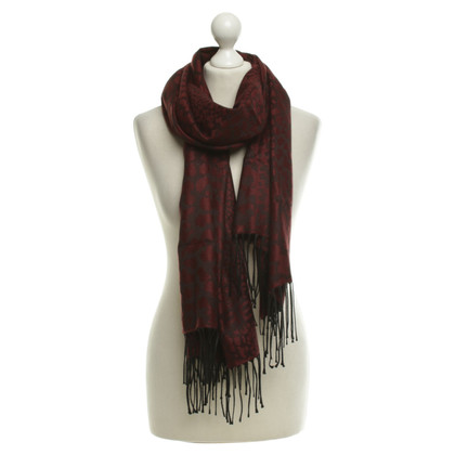 Borbonese Scarf in Bordeaux