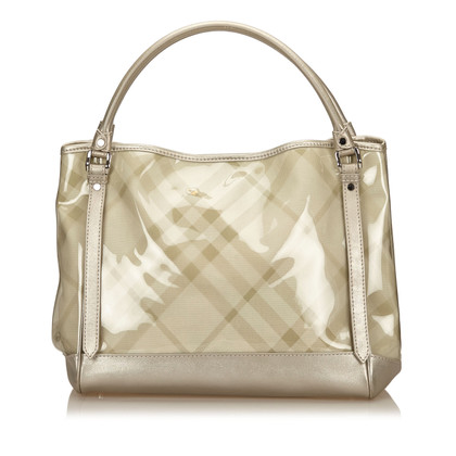 Burberry Plaid PVC Tote Bag