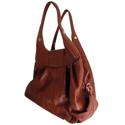 """Bulgari """"Chandra"""" calb leather shoulder bag!"""