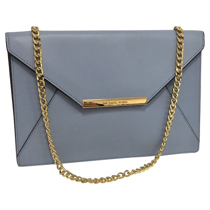 Michael Kors clutch in pastel blue