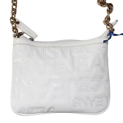 Versace Versace Borsello patent leather White Signature