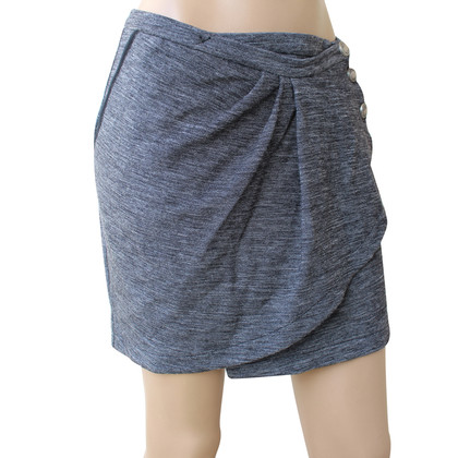 Patrizia Pepe Wrap Grey Wool Skirt
