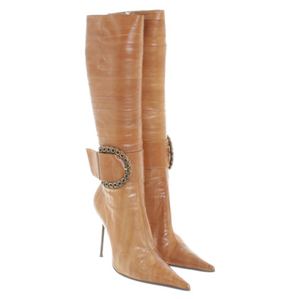 Gianmarco Lorenzi Eel leather boots