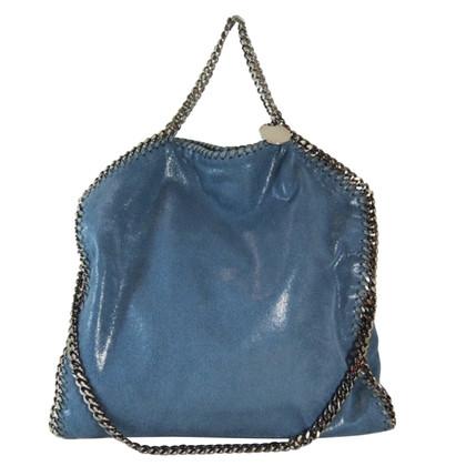 Stella McCartney Falabella Three Chains Blue Denim