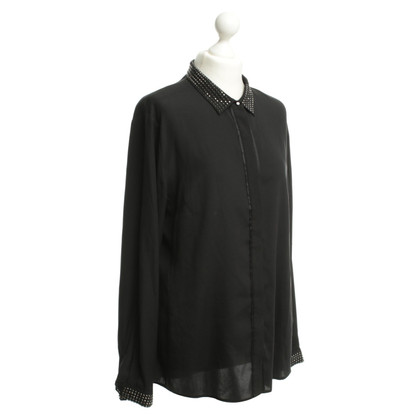 Other Designer Witty knitters - silk blouse in black