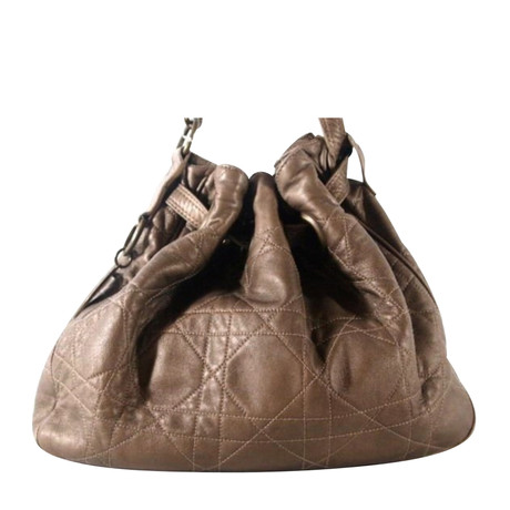 Christian Dior Tasche aus Leder Braun Billige Footaction HTePdOC