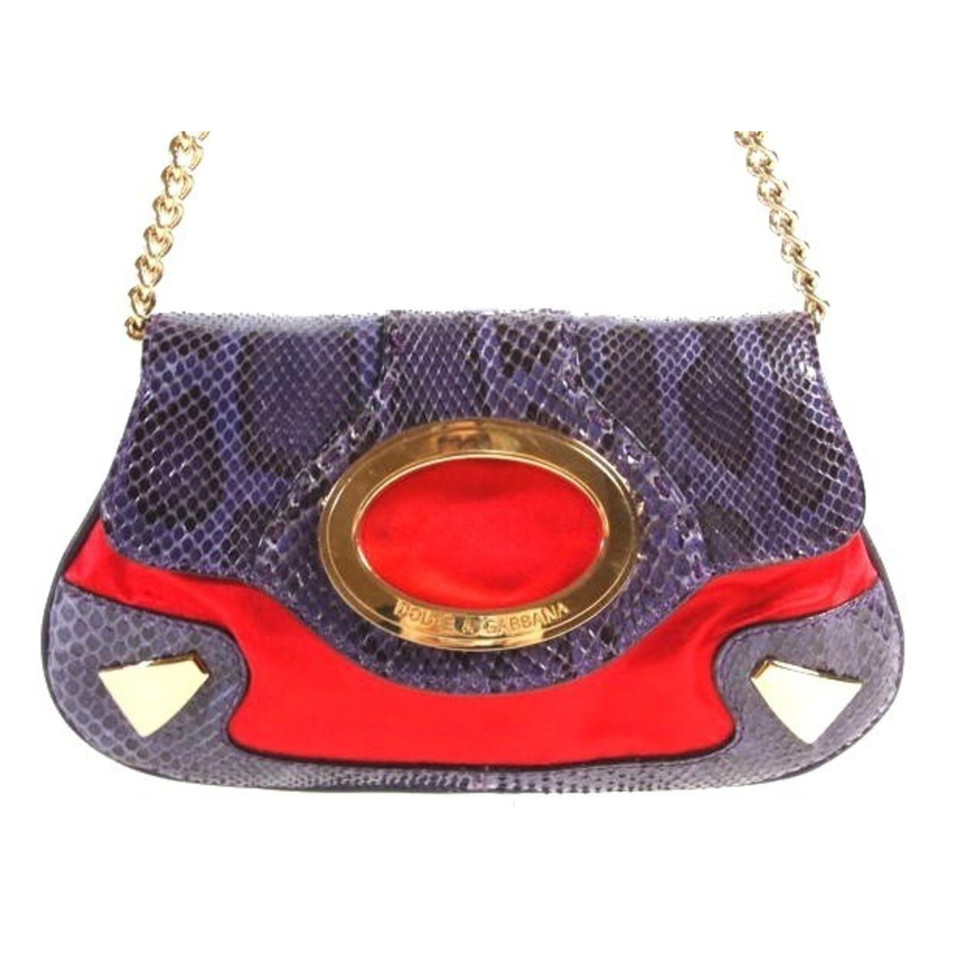 Dolce & Gabbana Clutch bag in python