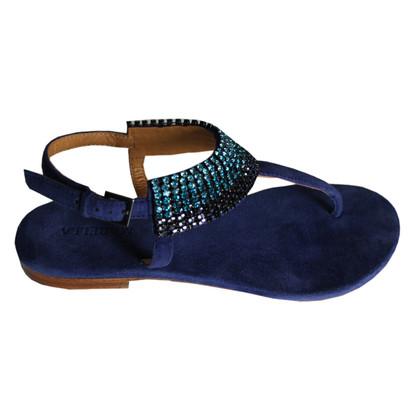Max Mara Suède sandalen met stenen