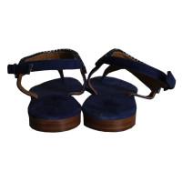 max mara wildleder sandalen mit steinen second hand max. Black Bedroom Furniture Sets. Home Design Ideas