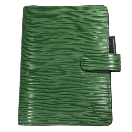 "Louis Vuitton ""Agenda Fonctionnel MM Epi leather"" in green"
