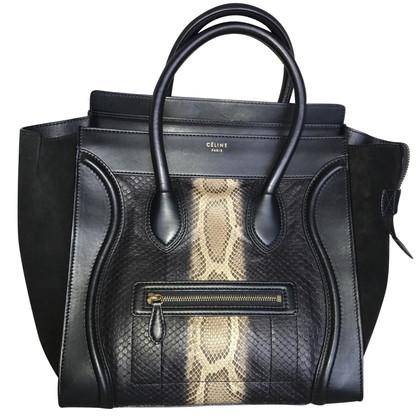 """Céline """"Mini Luggage Bag"""" aus Pythonleder"""
