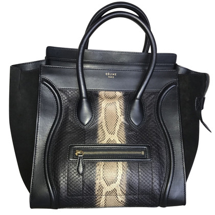 "Céline ""Mini Bagage Bag"" Python Leather"