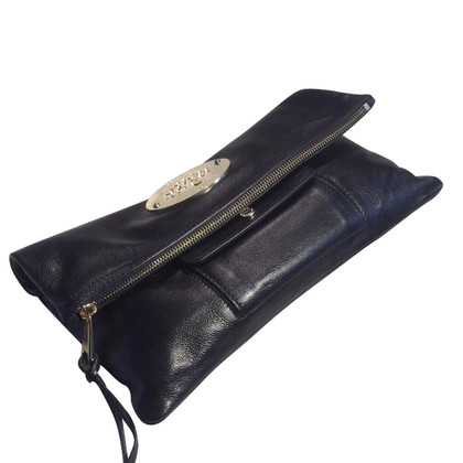 Mulberry Lederclutch in Schwarz