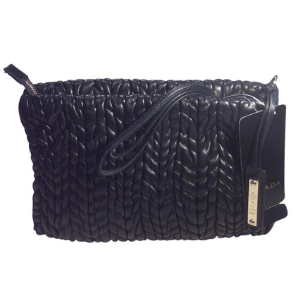 Escada nero Lederclutch