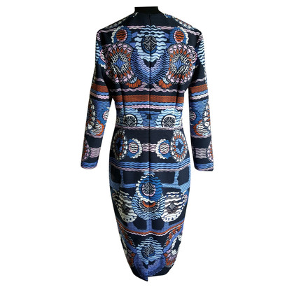 Peter Pilotto Jurk in blauwe tinten