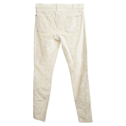 7 For All Mankind Velvet trousers in cream