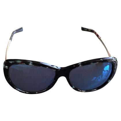 Jil Sander Sonnenbrille in Schwarz/Petrol