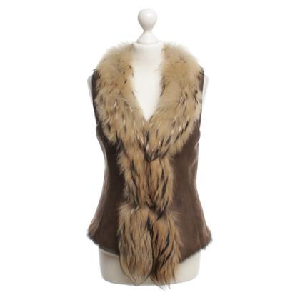 Vent Couvert Vest Leer / Fur